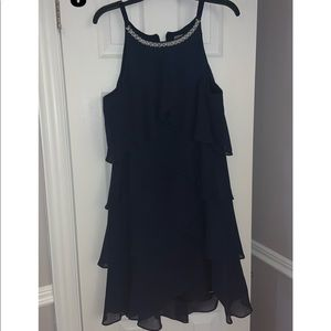 Laura Navy Tiered Dress